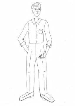 Farm - Waldo Costume (BW)