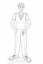 Traeth - Waldo Costume (BW)